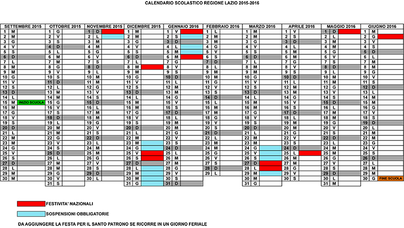 Miur Calendario Scolastico.Calendario Scolastico